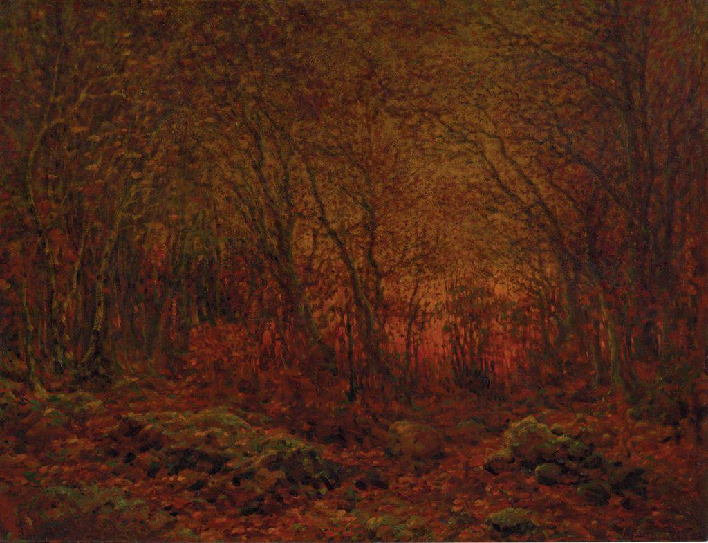 John Joseph Enneking 1841 1916 Woodland Sunset