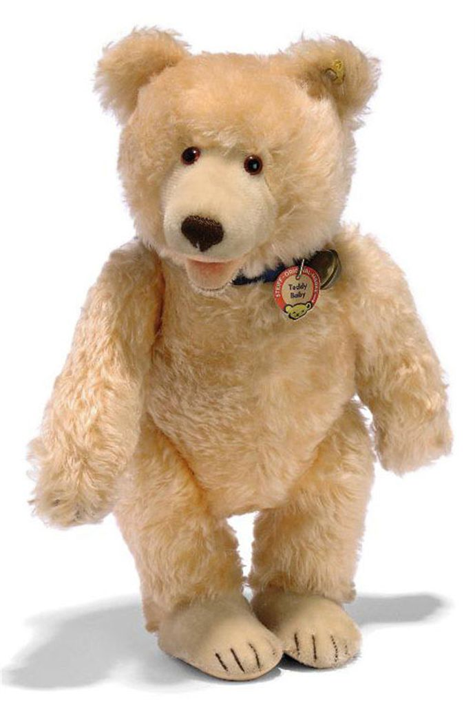 a steiff teddy baby 7340 2 jointed salmon gold mohair brown and black glass eyes inset. Black Bedroom Furniture Sets. Home Design Ideas