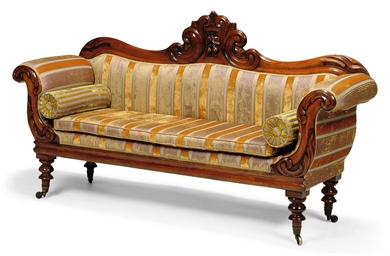 An Early Victorian Carved Mahogany Sofa North Country