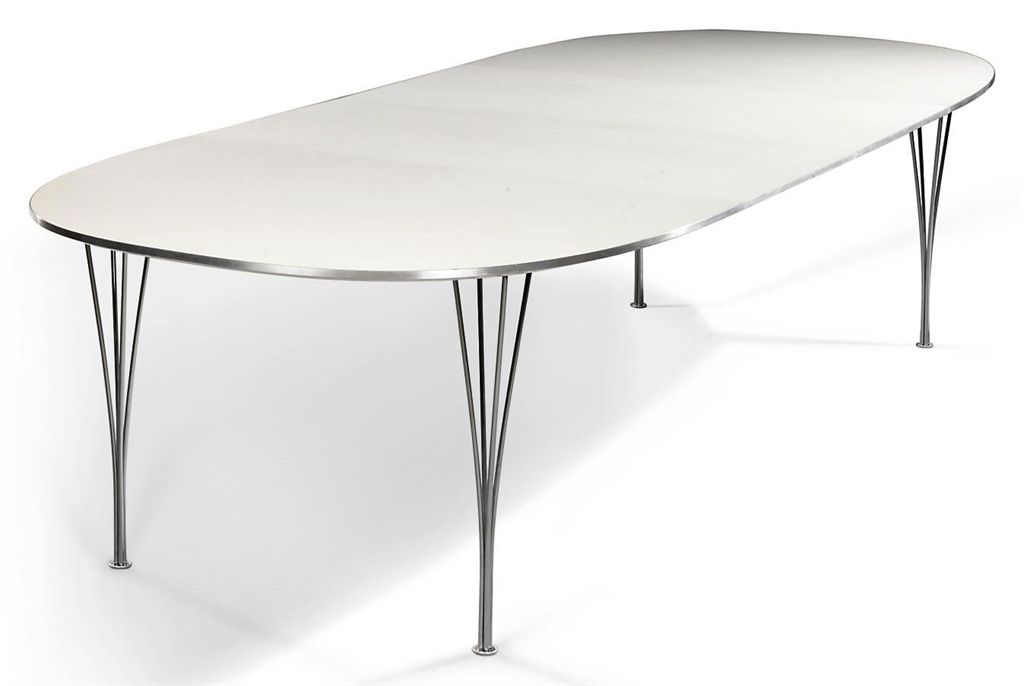 A Piet Hein Super Ellipse Extending Dining Table