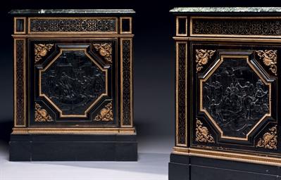 paire de meubles d 39 appui d 39 epoque napoleon iii estampille de fischer a paris seconde moitie. Black Bedroom Furniture Sets. Home Design Ideas
