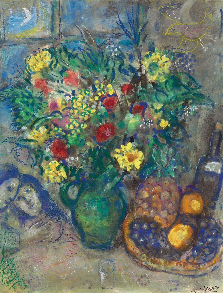 marc chagall 1887 1985 vase de fleurs l 39 ananas christie 39 s. Black Bedroom Furniture Sets. Home Design Ideas