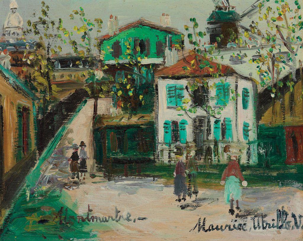 Maurice utrillo 1883 1955 rue de montmartre christie 39 s - Bureau de change rue montmartre ...