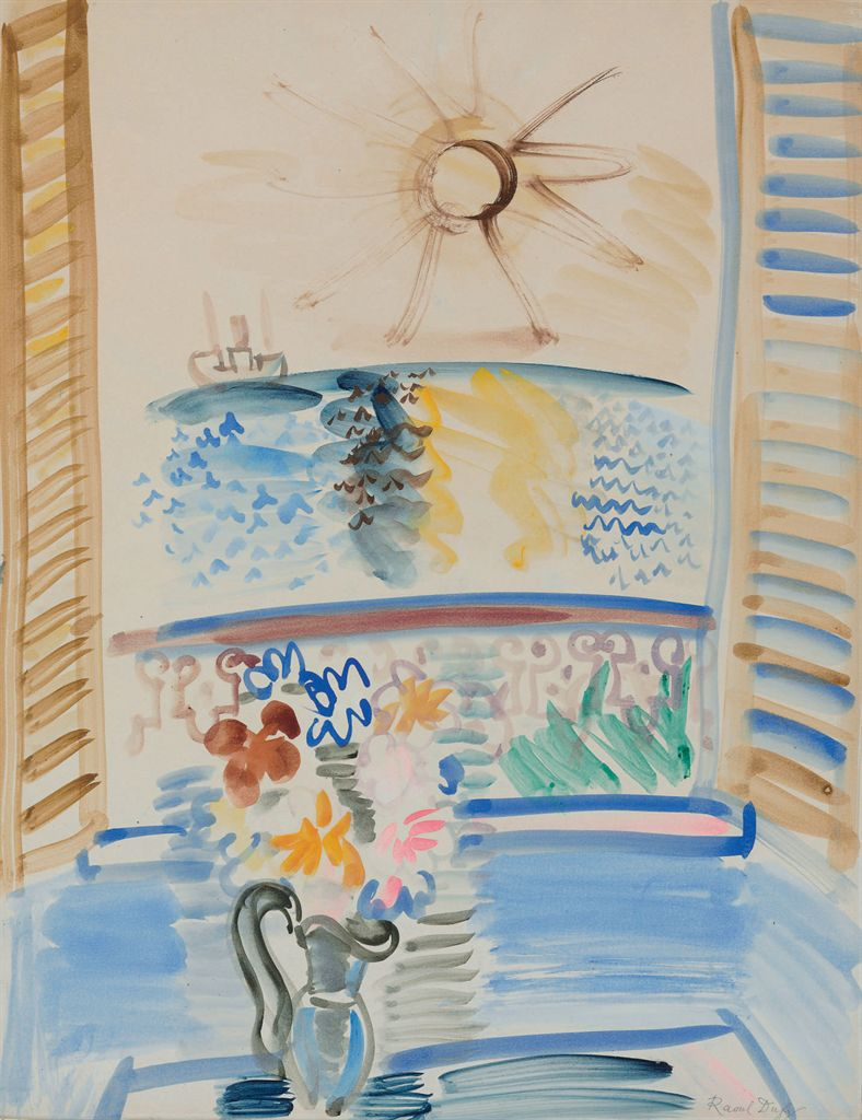 Raoul dufy 1877 1953 fen tre ouverte sur la mer for Fenetre ouverte