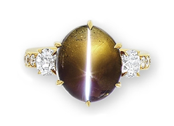 A Cat S Eye Alexandrite And Diamond Ring Christie S