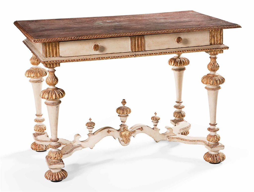 Table de style baroque travail italien du xixeme siecle for Baroque italien