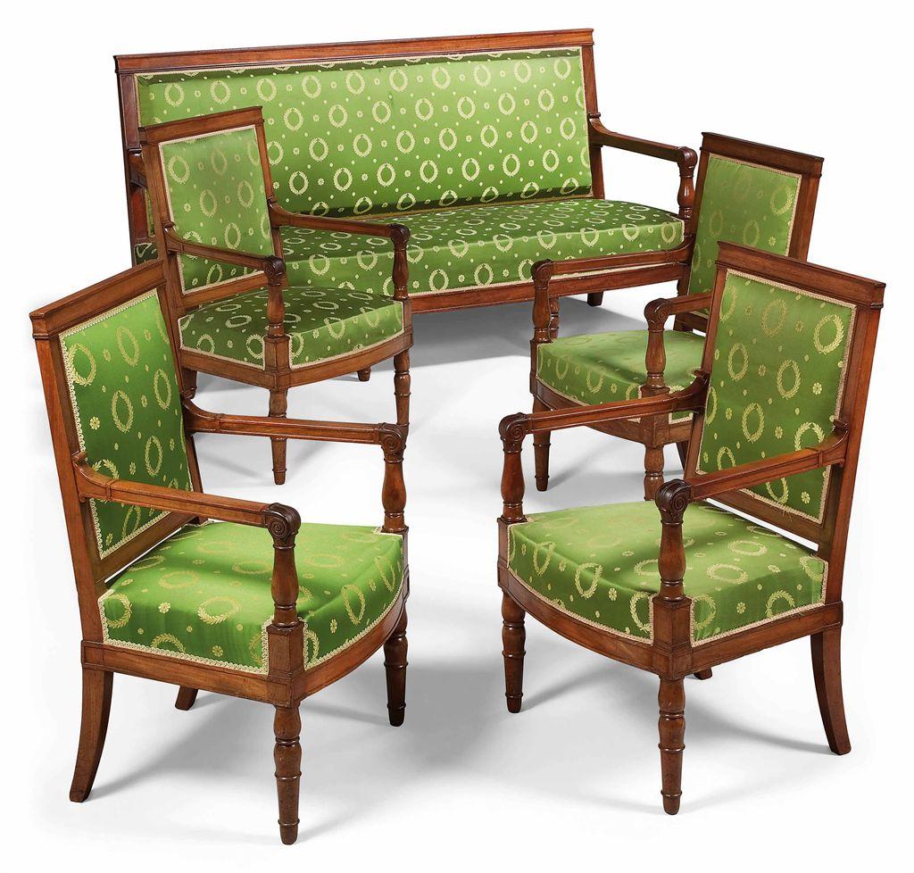 mobilier de salon d 39 epoque empire estampille de francois honore georges et georges jacob vers. Black Bedroom Furniture Sets. Home Design Ideas