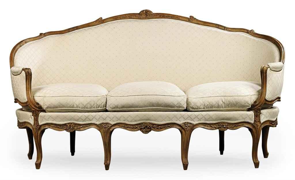 a louis xv walnut canape en corbeille by jean gourdin. Black Bedroom Furniture Sets. Home Design Ideas