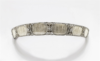 Tiara art nouveau in perle e diamanti christie 39 s for Tiara di diamanti