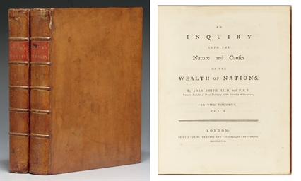 1776 An Inquiry into the Nature and Causes the Wealth of Nations ADAM SMITH 1st