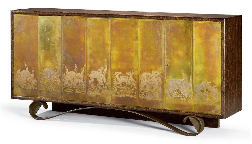eugene printz 1889 1948 jean dunand 1877 1942 et jean lambert rucki 1888 1967 enfilade. Black Bedroom Furniture Sets. Home Design Ideas