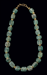 A Roman Glass Bead Necklace Circa 200 B C 100 A D