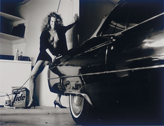 HELMUT NEWTON (1920-2004) , Woman and Cadillac, Hollywood, 1987 | Christie's