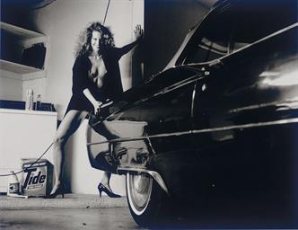 HELMUT NEWTON 1920 2004 Woman And Cadillac Hollywood