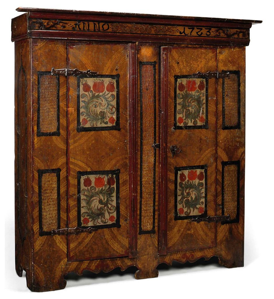 an austrian painted armoire early 18th century christie 39 s. Black Bedroom Furniture Sets. Home Design Ideas