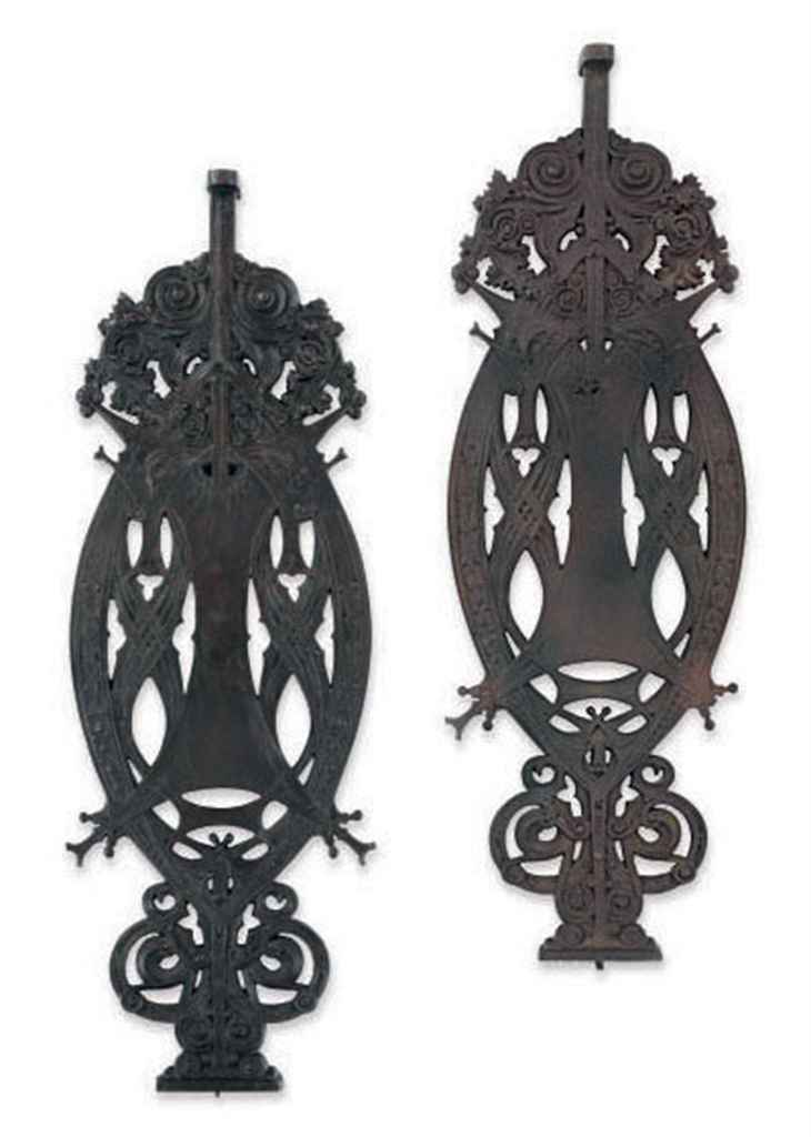 Two cast iron stair balusters from the guaranty building