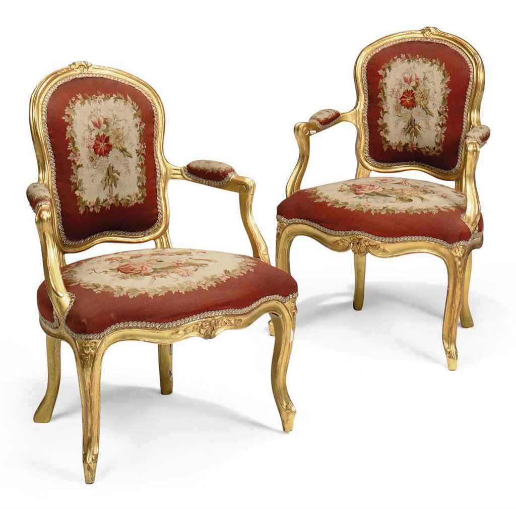 a pair of louis xv giltwood fauteuils late 18th century and later christie 39 s. Black Bedroom Furniture Sets. Home Design Ideas