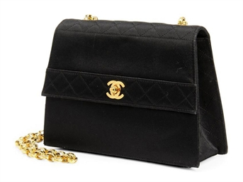 Louis Vuitton Made In France >> TWO BLACK SATIN EVENING BAGS , CHANEL | Christie's