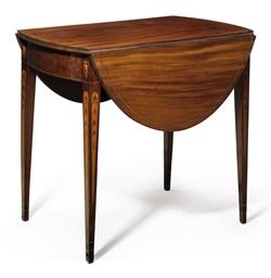 A Federal Eagle Inlaid Mahogany Pembroke Table Baltimore