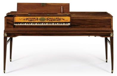 A federal inlaid mahogany pianoforte bears stencil of for Furniture r us philadelphia