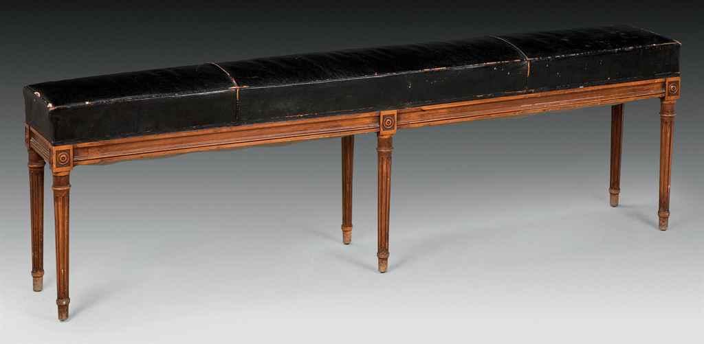 banquette de style louis xvi dans le gout de la maison jansen xxeme siecle christie 39 s. Black Bedroom Furniture Sets. Home Design Ideas