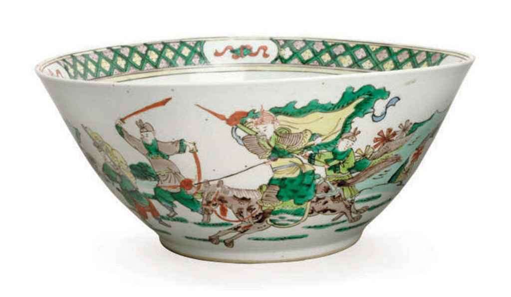 10de45848e5 a chinese famille verte porcelain bowl decorated with warriors on hors d5405481g.jpg