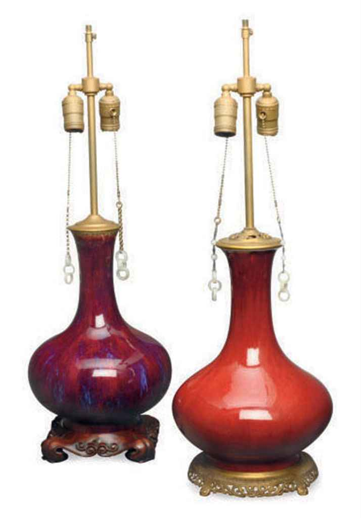 a48577bf533 two chinese glazed bottle vases mounted as lamps 19th 20th century d5405478g.jpg