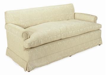 Astonishing A White Silk Damask Upholstered Sofa Late 20Th Century Theyellowbook Wood Chair Design Ideas Theyellowbookinfo