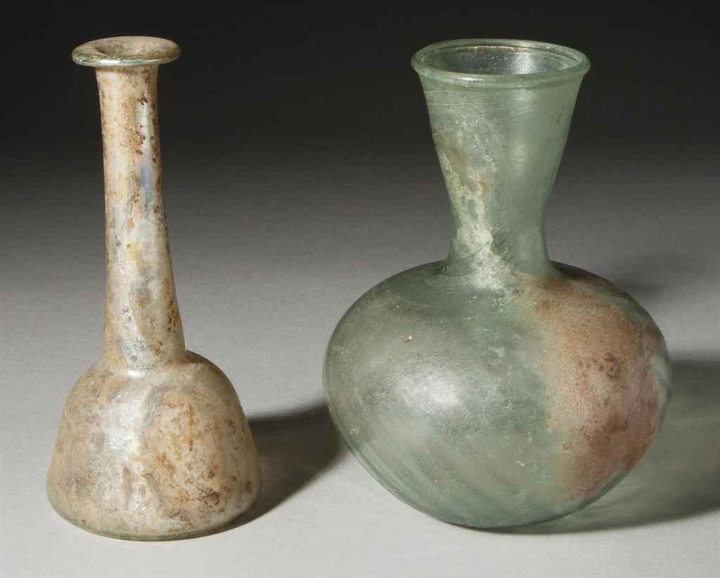six recipients en verre epoque romaine circa ier iveme siecle apres j c christie 39 s. Black Bedroom Furniture Sets. Home Design Ideas