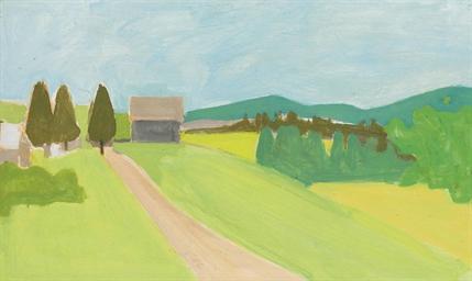 Alex Katz B 1927 Landscape Christie S