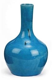 A Chinese Turquoise Glazed Bottle Vase 18th Century