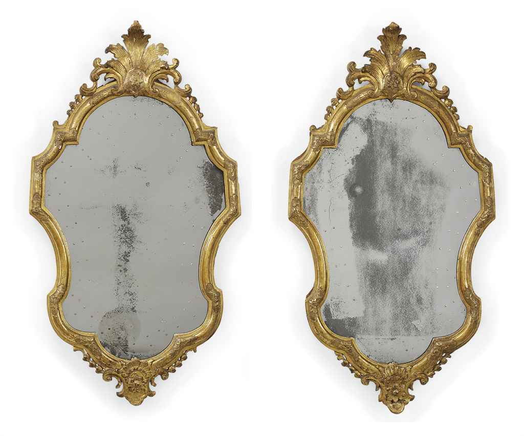 A PAIR OF NORTH ITALIAN GILT-GESSO AND CARVED GILTWOOD