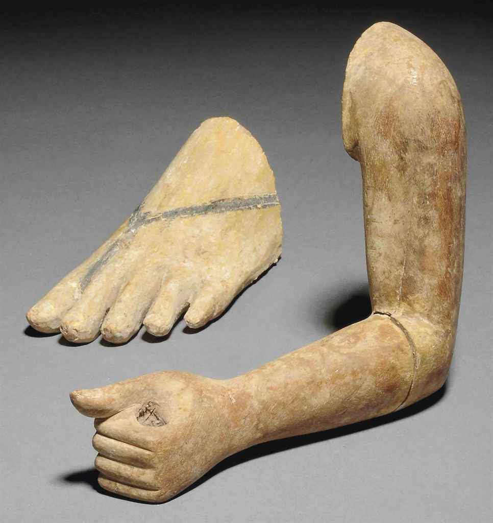 Wood Arm Art ~ An egyptian wood left arm from a statue middle kingdom