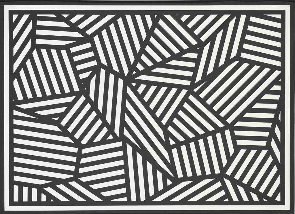 Sol lewitt shapes of black white stripes christie 39 s for Minimal art sol lewitt