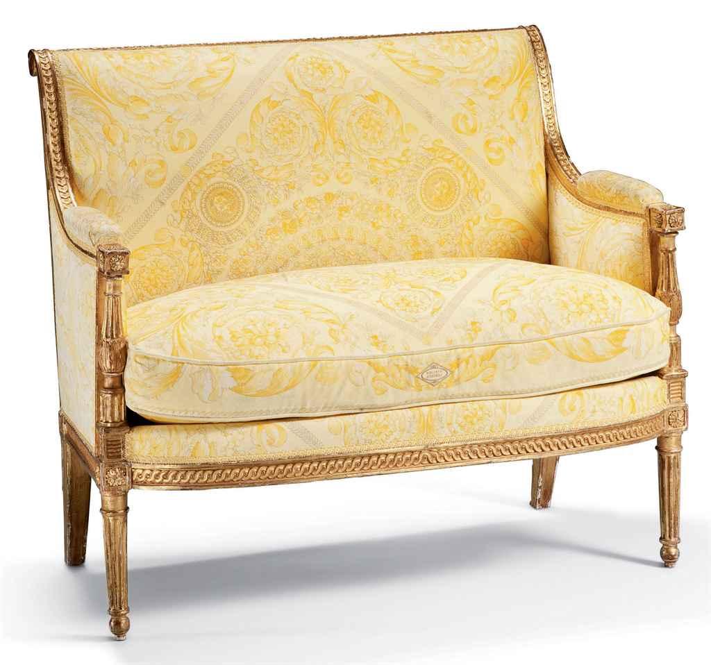 petit canape d 39 epoque louis xvi attribue a georges jacob dernier quart du xviiieme siecle. Black Bedroom Furniture Sets. Home Design Ideas