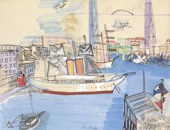 raoul dufy 1877 1953 le vieux port de marseille christie 39 s. Black Bedroom Furniture Sets. Home Design Ideas