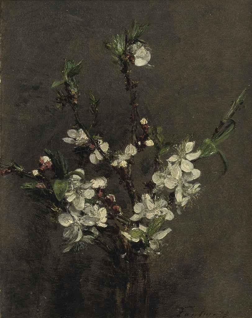 henri fantin latour 1836 1904 fleurs d 39 arbre fruitier christie 39 s. Black Bedroom Furniture Sets. Home Design Ideas