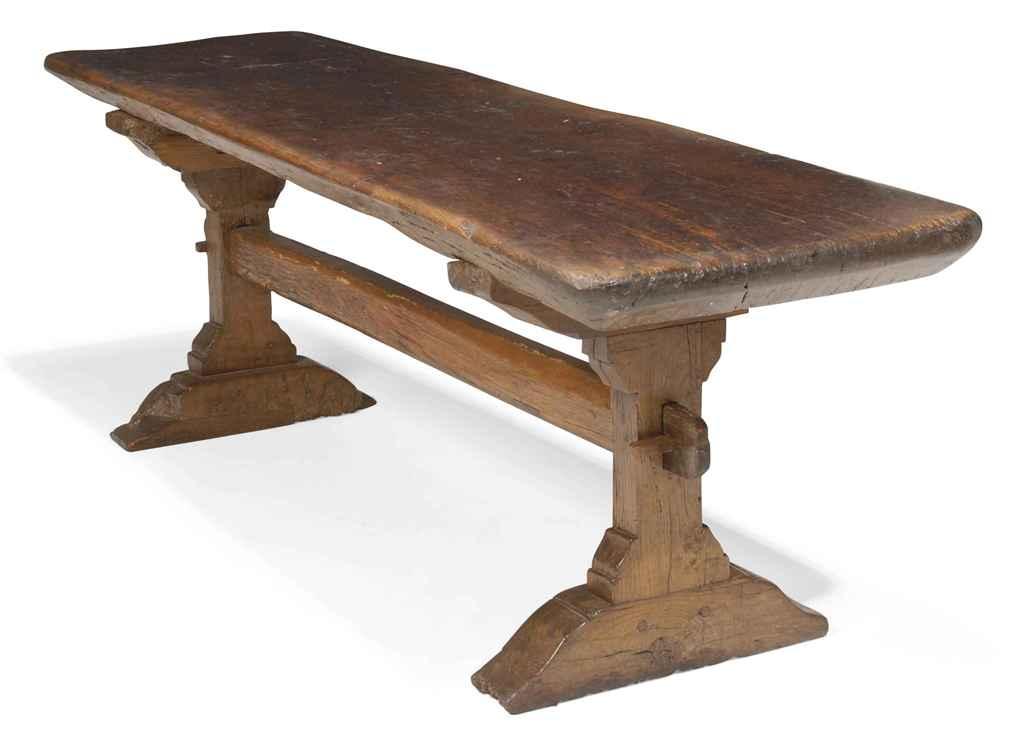 An elizabethan oak trestle table late th century