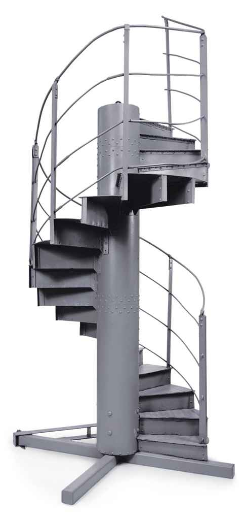 Staircase Section Tower : Gustave eiffel a helical lacquered iron