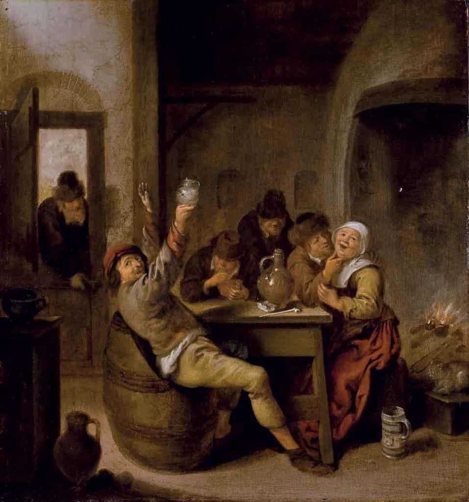 Jan miense molenaer haarlem 1610 1668 paysans buvant for Interieur haarlem