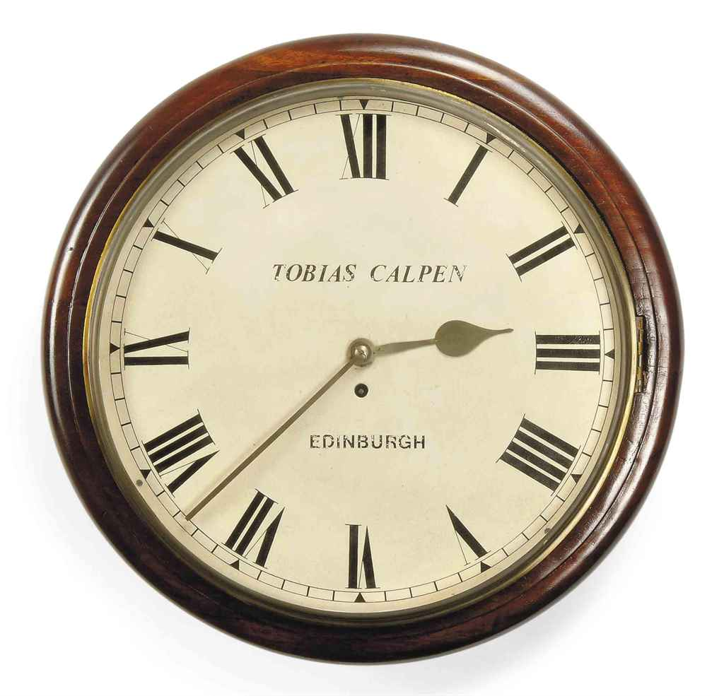 A Victorian Large Wall Clock Tobias Calpen Late 19th