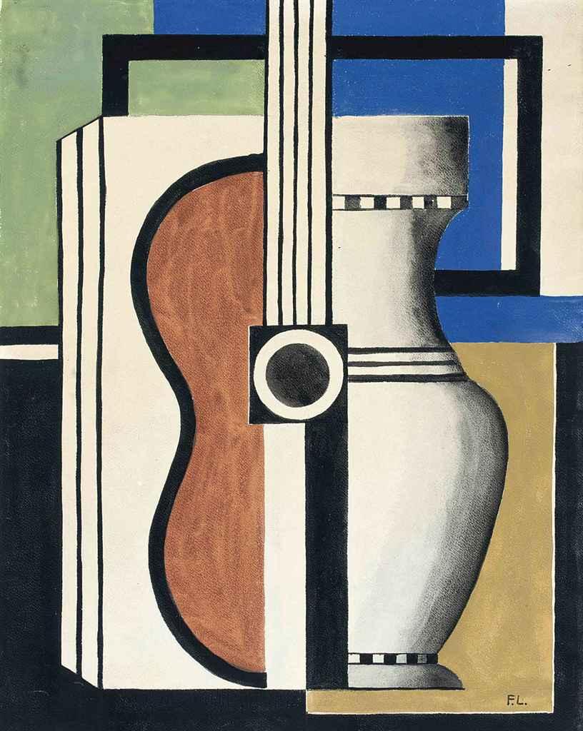 Fernand l ger 1881 1955 composition avec guitare for Telephone leger
