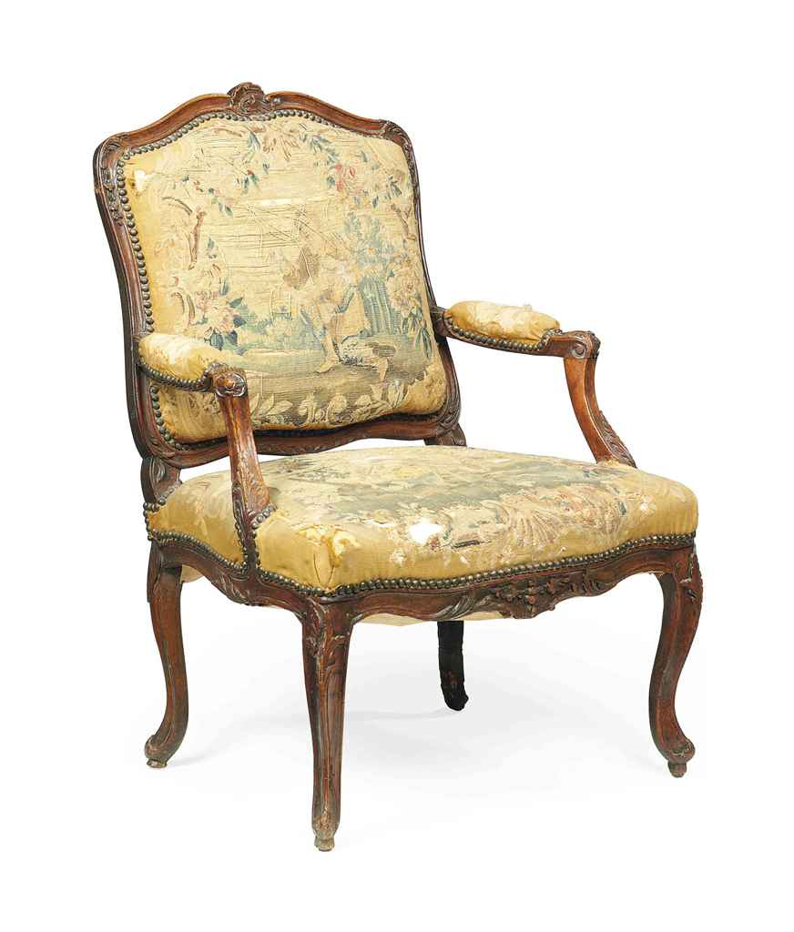 a louis xv carved beech fauteuil mid 18th century christie 39 s. Black Bedroom Furniture Sets. Home Design Ideas