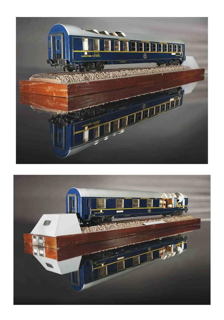 Maquette d 39 une voiture lit de la compagnie internationale - Compagnie des wagons lits recrutement ...