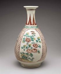 A Porcelain Bottle Hizen Ware Arita Kilns Edo Period