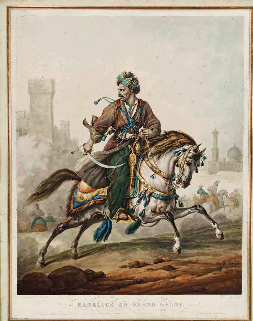 D 39 apres carle vernet 1758 1835 mamelouk au combat for Carpe vente