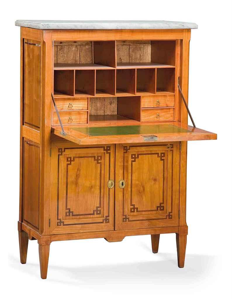 secretaire a abattant travail regional debut du xixeme siecle christie 39 s. Black Bedroom Furniture Sets. Home Design Ideas