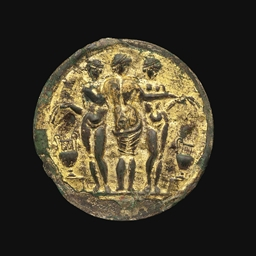 A Roman Gilt Tinned Bronze Mirror Circa 2nd Century A D