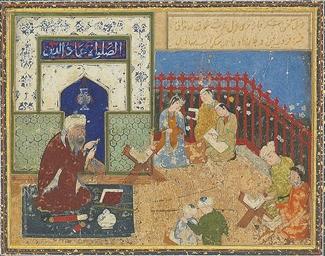 Layla And Majnun At School School Of Behzad Timurid