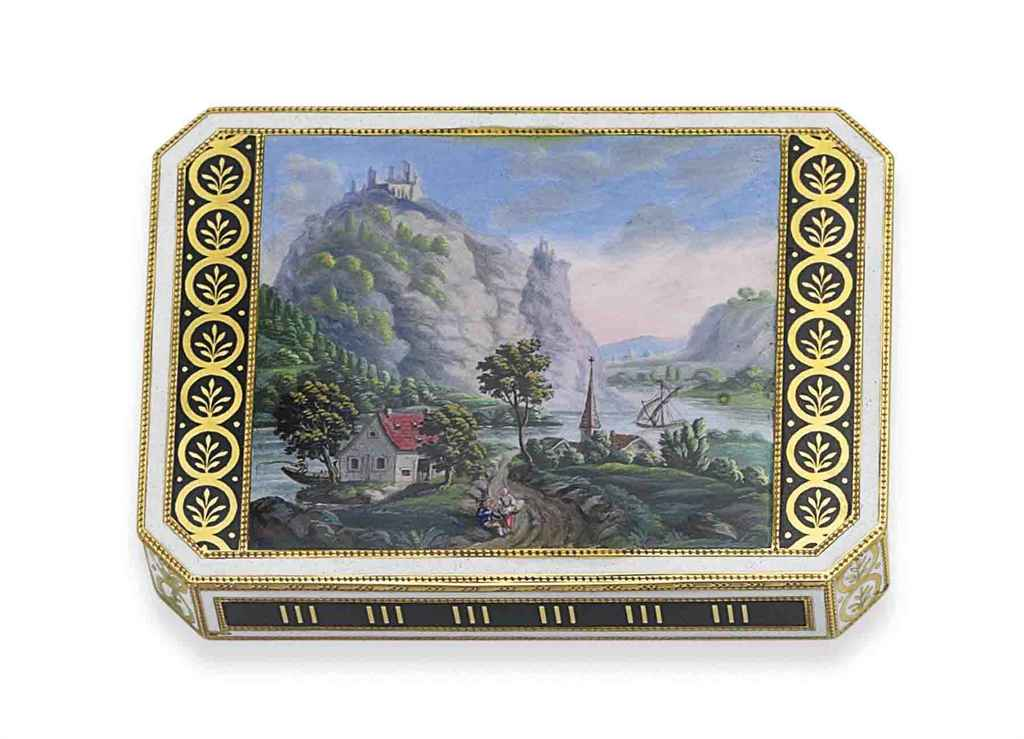 a german gold and enamel snuff box hanau circa 1810 maker 39 s mark fj incuse christie 39 s. Black Bedroom Furniture Sets. Home Design Ideas